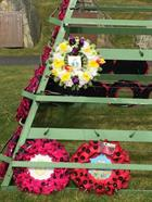 824 NAS wreath at the War Memorial