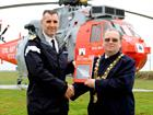 (L-R) RNAS Culdrose Captain (Capt Orchard) and Helston Town Mayor (Cllr Mike Thomas)