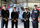 First Ab-initio Wildcat Wings Awarded L-R Lt Si Hall, Lt Dave Harwood, Lt Tim Dunning and Lt Kev Reg
