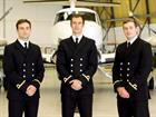 Sub Lieutenants Viv Wilmot, Connor Osborne and Jack Carlisle.