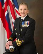 CO 829 NAS Lt Cdr Kay Burbidge