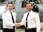 Cdr Roger Kennedy hands over to Lt Cdr Chris Hughes