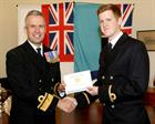 SLt Riley Handforth and Rear Admiral Keith Blount OBE