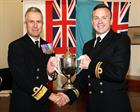 Lt  Nik Wielbo and Rear Admiral Keith Blount OBE
