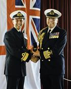 Admiral Blount and Captain Stembridge
