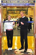 Petty Officer Jane West & Commodore Paul Chivers OBE cutting the ribbon