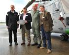 Commodore Paul Chivers OBE, David Livingstone DSC, Lt Cdr Florry Ford & David Morris, FAA Museum