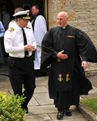 Prince Andrew and Rev Tudor Botwood at the FAA Church