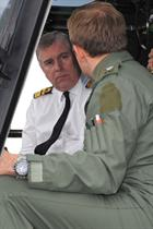 Prince Andrew Being briefed on Wildcat AH1