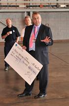 Steve Power with the FAA Cheque