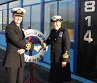 814 Handover. Commander Bredan Spoor and Commander Sarah Birchett