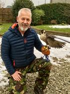 Terry Duffield with a Falcon