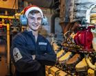 ET(ME) Michael Brooks from Crosby, on board HMS Argyll during the festive period.