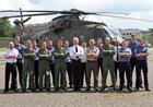 Capt Matt Briers (Centre) CO Commando Helicopter Force,  with CHF personnel