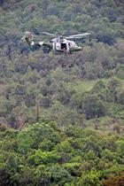 Abseiling from 847NAS Mk7 Lynx in Malaysia