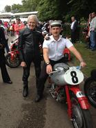 LAET Herbert with the racing legend Sammy Miller and his Moto Guzzi