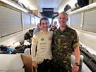 AET 'Bunny' Warren with Lotus driver Nico Prost