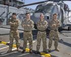 Pictured (L-R) PO Aircrew Lee Niall, Lt Steve Doughty Lt Cdr Gaz Wardle, Sgt Tom Goy RM
