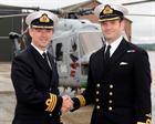 Old CO Cdr Peter Hoare & New CO Cdr Anthony Rimington, 702 NAS