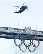 CHF Sea King and Tower Bridge Olympic Rings