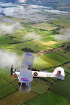 Swordfish LS326 above a flooded Somerset