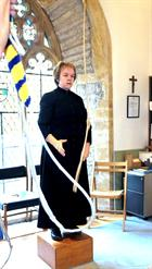 Tina Cullen, the Verger at St Barts. The Fleet Air Arm Memorial Church Yeovilton