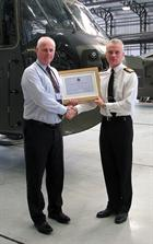 CSgt Peter Wooldridge RM & Capt M Briers RN, CO Commando Helicopter Force