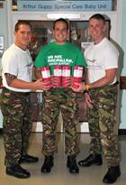 Cpl's Paul Davy, Tom Brownhill and Lee Flynn