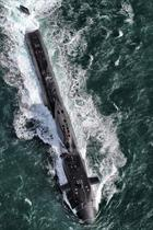 HMS Ambush from the air