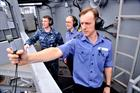 Leading Seaman Paul Allen and Lt Anna Townsend on the USS Harry S Truman