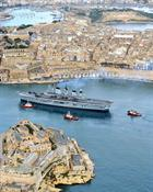 HMS Illustrious enters Valetta harbour, Malta