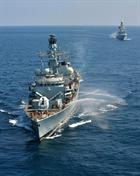 HMS Monmouth and HMS Diamond