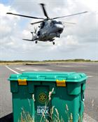 Royal Navy Merlin & ShelterBox