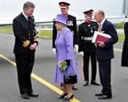 Captain Mark Garratt with the Queen and Prince Philip