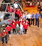 St Erth Community School and Staff with Culdrose Engineering staff