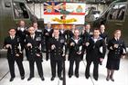 846 NAS personnel holding their Afghanistan Operational Support medals